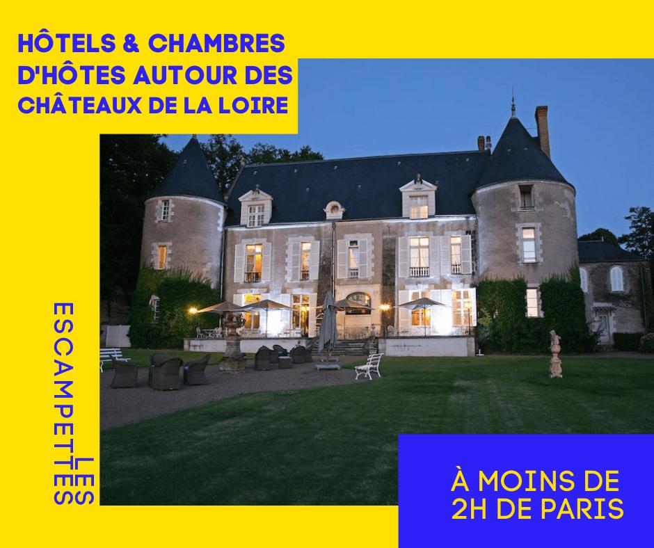 hôtels pour visiter châteaux de la Loire