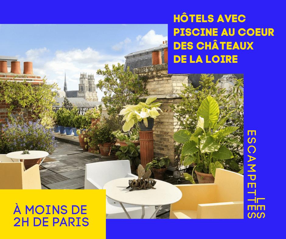 hôtels avec piscine dans les châteaux de la Loire