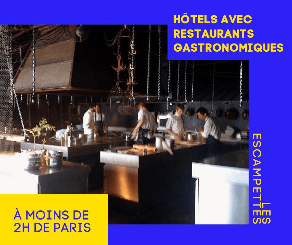 hôtels avec restaurants gastronomiques proches Paris